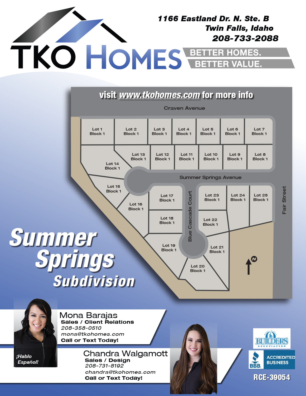 Summer Springs Subdivision Flyer for Website